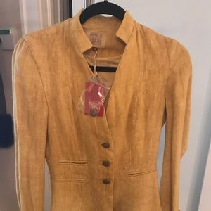 NWT...gorgeous Indian linen jacket  by Tba size 36